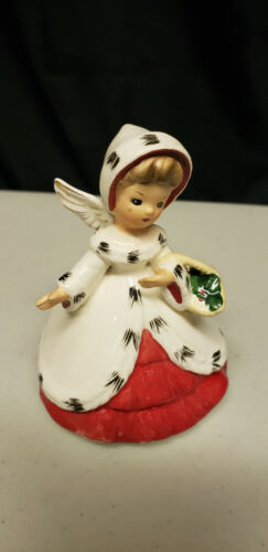 Vintage Inarco Girl Lady Christmas Planter 1963 E1137