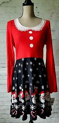 Cute Ugly Red Blue Christmas Dress Santa Claus Women's Juniors Size XL NWT  - Cute Santa Dresses