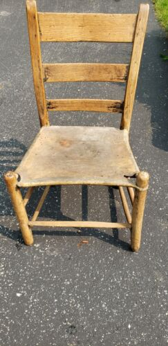 Authentic Native American Reservation Camp Chair with Leather Hide Seat
