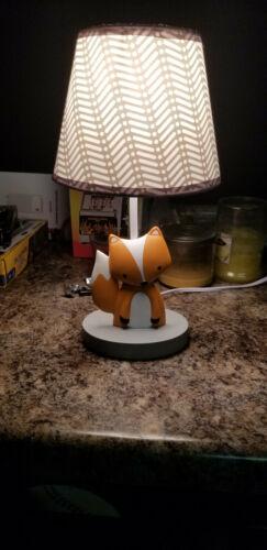 Bedtime Originals Acorn Lamp with Shade, Orange