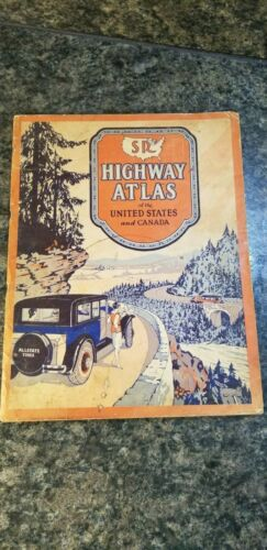 Vintage 1931 SR Highway Atlas of the United States & Canada Gallup Map & Supply