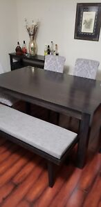 Moving sale!!! Table, chairs and bench!