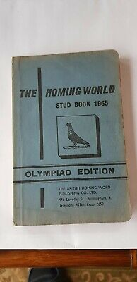 Racing Pigeon The Homing World Stud Book 1965 Olympiad Edition