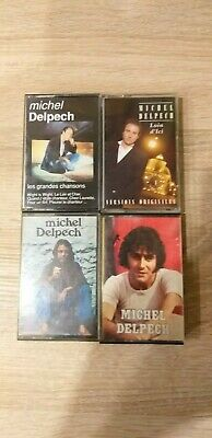 Vintage Lot 4 K7 Cassette audio MICHEL DELPECH