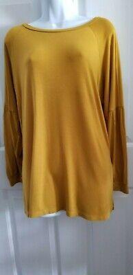 Agnes and Dora Women's Top, Long Sleeves, Mustard, Medium [0150]