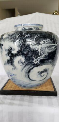 Japanese Dragon Vase Antique 1900