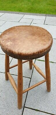 old wooden vintage stool