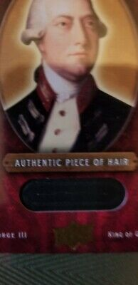 Authentic Piece of King George III's Hair University Archives Collection Rare