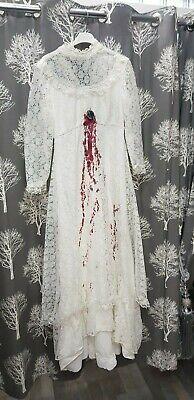 Halloween dead bride zombie bride vintage 1960s 1970s dress extra - Halloween 1970's Kostüm