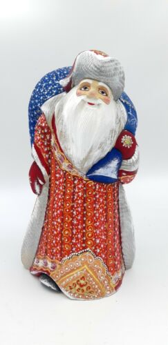 """12.6"""" Wooden Carved Santa Claus Father Frost Hand carved Christmas decoration"""