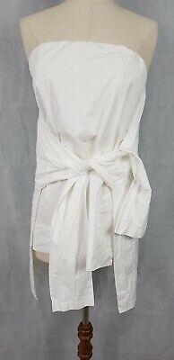 Kitx Off Shoulder White Front Tie Top, Size AU 10, US 6.