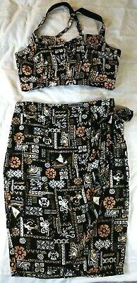 Disney Dresses For Adults (MOANA Disney Women's CROP TOP & WRAP SKIRT Hawaiian SET Size XL - Her Universe)