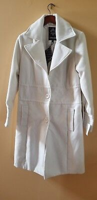 Dollhouse Outerwear Coat Size 1X ivory brand new with tag polyester and cotton
