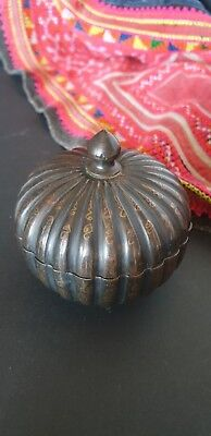 Old Asian Bronze Brass Lidded Container …beautiful collection item