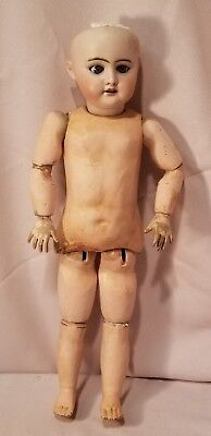 """Antique 18"""" Germany Bisque Head doll 2x, composition body"""
