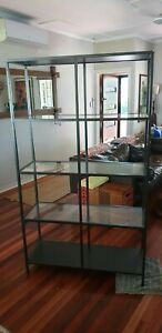 Vittsjo Ikea Black Glass Shelving Unit
