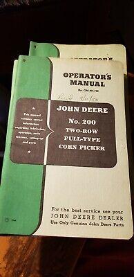 John Deere No. 226 Two-row Mounted Corn Picker Operators Manual Om-n7-750