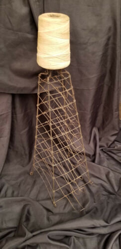 Antique Country Store Bag Rack With 40 Antique Bags and String Holder Lamar MO.
