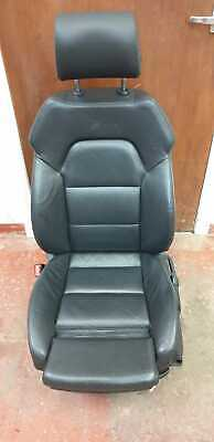AUDI A6 C6 S-LINE FRONT LEFT PASSENGER SIDE NEARSIDE SEAT FULL BLACK LEATHER