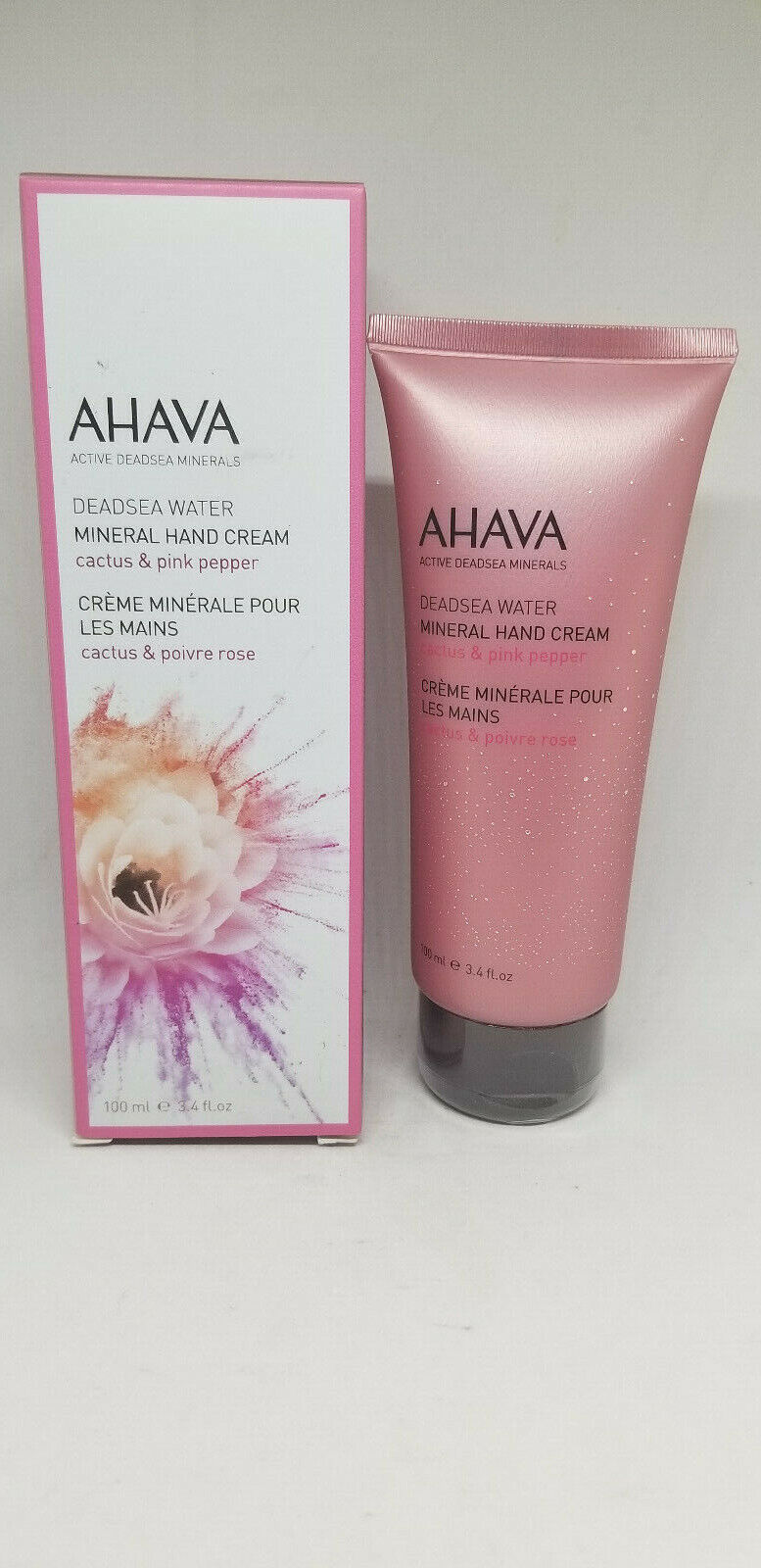 AHAVA Women's Mineral Hand Cream, Cactus/Pink Pepper, 3.4 fl