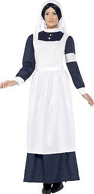 Historisches Krankenschwester Kostüm für Damen NEU - Damen Karneval Fasching Ver (Historische Kostüme)