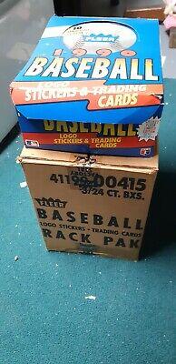 1990 Fleer Baseball Rack Pack Box 24 Packs 1990 Fleer Rack
