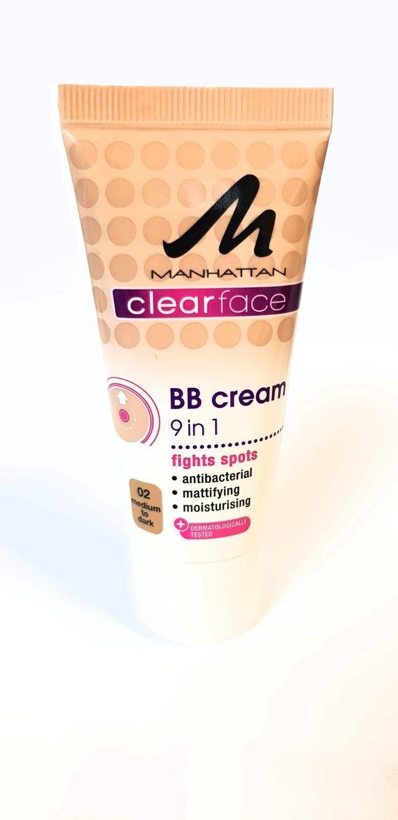 Manhattan Clear Face BB Cream 9in1  gegen Pickel Foundation 02 Medium to Dark
