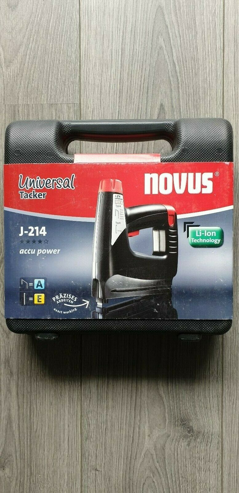 Novus Elektrotacker J-214 Universal accu power tacker.