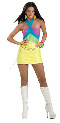 Womens Adult Costume 60s 70s Mini Dress Sexy Halloween Mod Retro Go Go Standard - 70's Womens Halloween Costume
