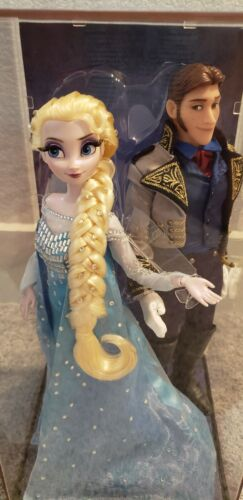 Disney Frozen Elsa & Hans Fairytale Designer Limited Dolls - NIB