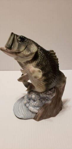 Vintage Homco Porcelain Bass Fish Figurine 1988