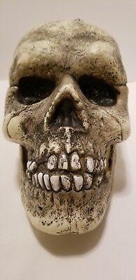 Big Macabre Scary Halloween Haunted Grinning Blow Mold Skull Head Prop Decor - Big Halloween Props