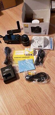 Nikon 1 1 V1 10.1MP Digital Camera Black (Kit w/ VR 10-30mm Lens) MINT w/extras