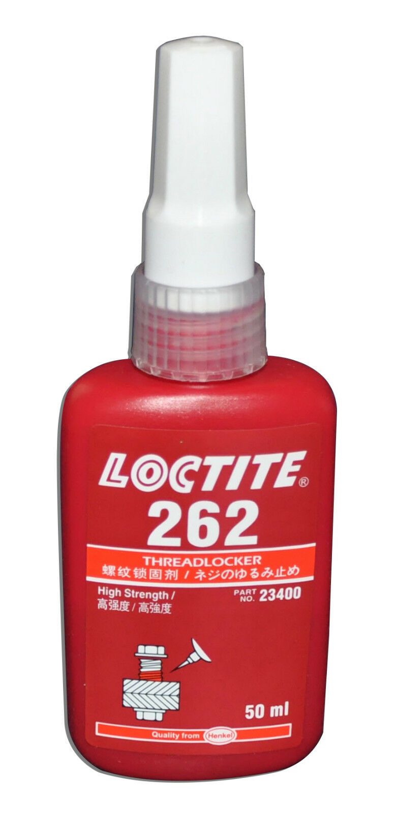 LOCTITE 262 HIGH STRENGTH THREADLOCKER HIGH STRENGTH LIQUID – 50 ML Adhesives, Sealants & Tapes