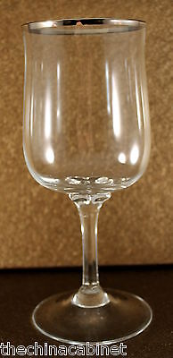 """Set of 3 * Lenox Crystal DESIRE PLATINUM -- 6-1/4"""" Glasses Glass Goblet Set"""