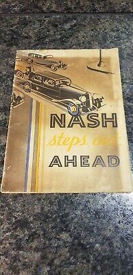 Vintage 1932 Nash Motors Co. Advertisement Poster and 1932 Typed Letter *COOL*