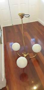 Brass pendant light 3 arm