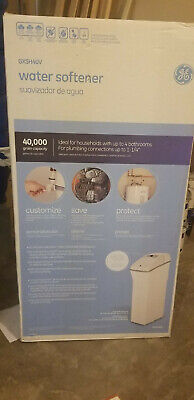 N Water Softener GE 40,200 Grain Capacity Alarm Indicator Light Programmable GRY