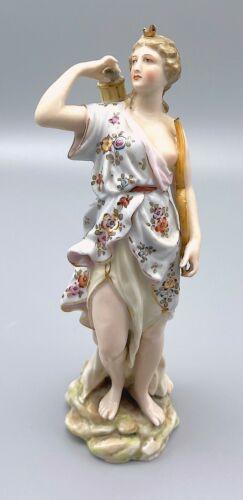"Rare 6.5"" Meissen Moon Goddess Diana / Artemis the Huntress Figurine"