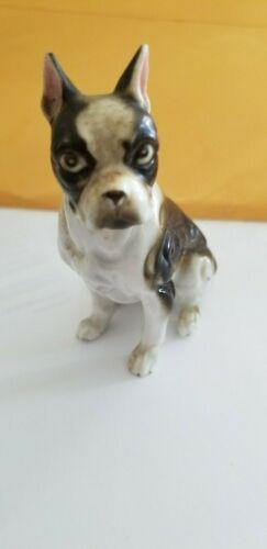 Boston Terrier Vintage Black and White Bing & Grandahl Dog