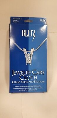 Blitz Two-Ply Jewelry Care Cleaning / Polishing Cloth silver gold platinum