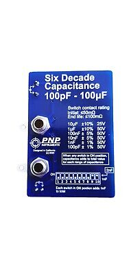 6 Decade Capacitance Board- 100pf To 100uf In Steps Of 100 Pf