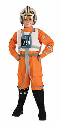 Star Wars X-Wing Fighter Pilot Child Costume Jumpsuit Kids Theme Party Halloween - Original Halloween Costume Themes