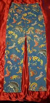 Genuine Vintage Versace Couture jeans Womens  28 size 10 fantastic animal print