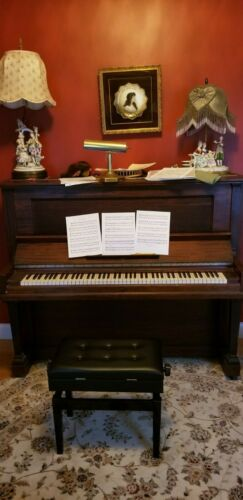 Steinway & Sons 1905 Piano Upright Vertigrand Collectible Tuned Brown