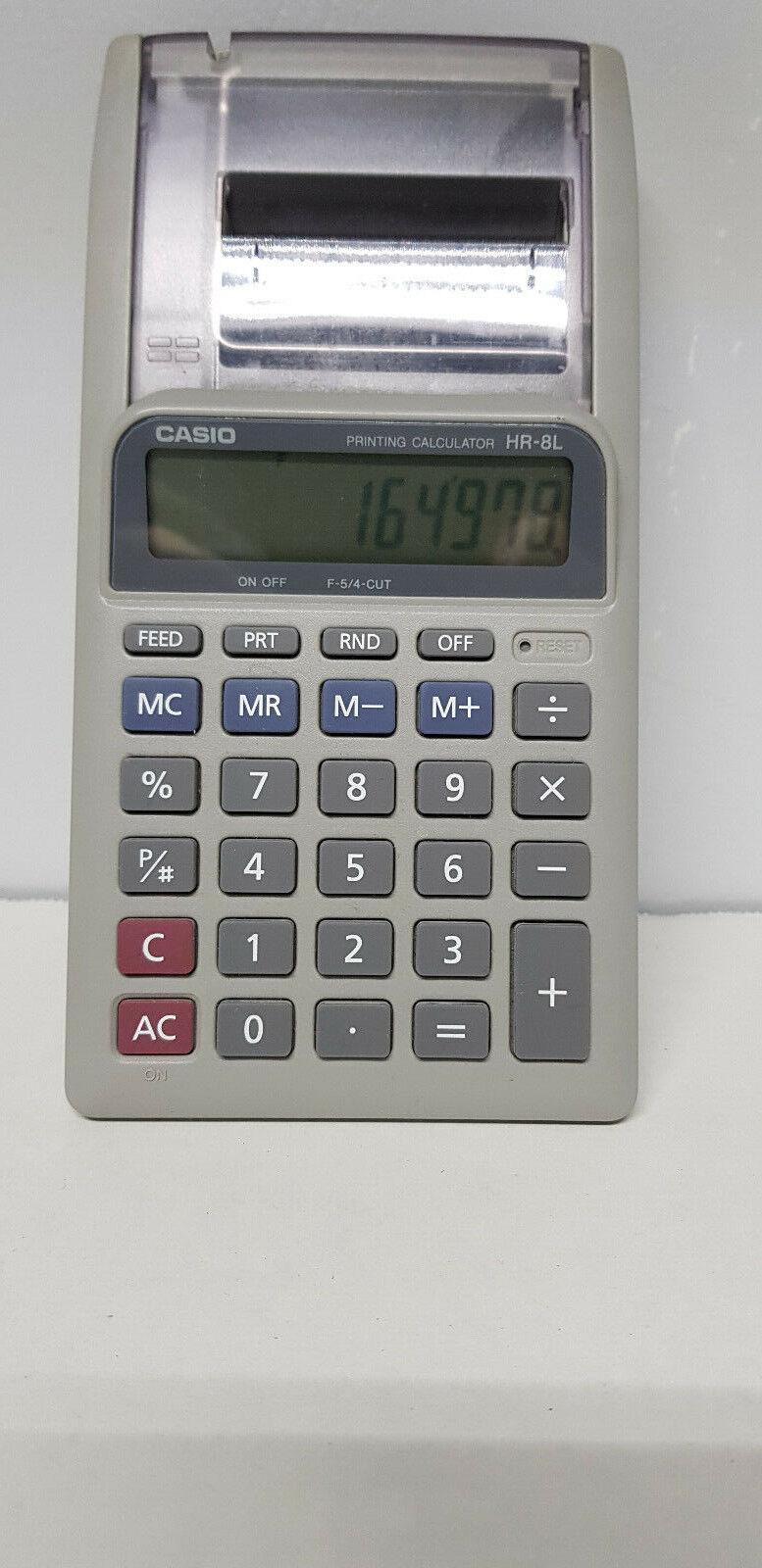 CASIO HR-8L Printing Calculator Desk Top Model