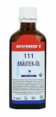 111 Kräuter-Öl 100ml Naturkräuteröl Konzentrat Apotheker´s Kräuter K