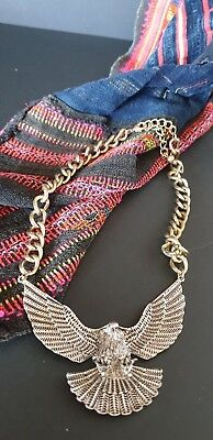 Eagle Silver Tone Necklace (b) …beautiful accent piece...
