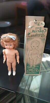 "Vintage Pedigree Delite 7"" Doll"
