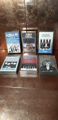 Music cassette tapes job lot x 6 Good Retro Titles! ABBA BLONDIE EAGLES!